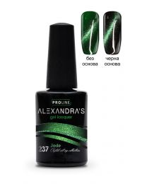 Гел лак ALEXANDRA`S Crystal cat eye collection Jade #237