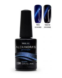 Гел лак ALEXANDRA`S Crystal cat eye collection Azurite #238