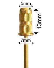 Златен метален носач за шлайфцилиндър накрайник за ел. пила EC BIT045