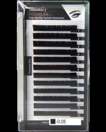 Мигли SECRETLY Premium line 0.05 C 8-15mm MIX