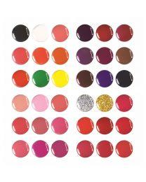 Цветни гелове CLARISSA Flash & Shine Сет №1+№2+№3+№4 36x4 мл.