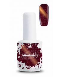 Гел лак Secretly Glitter 5D Cat Eye Chameleon RED ZIRCON #191
